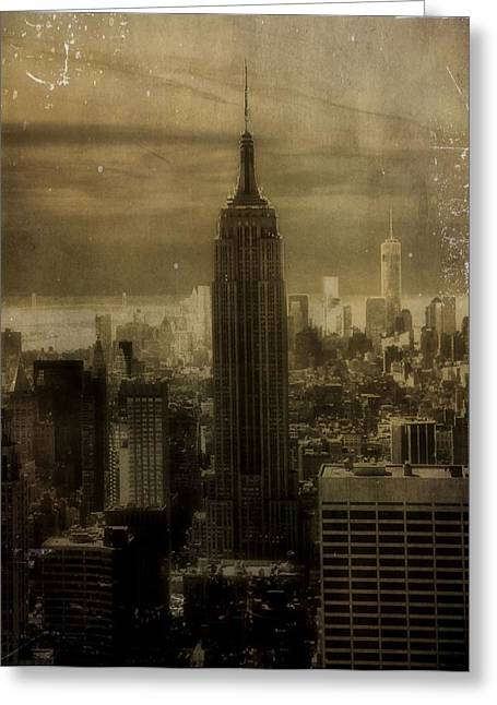 New Mind Greeting Cards - Vintage New York City Greeting Card by Dan Sproul