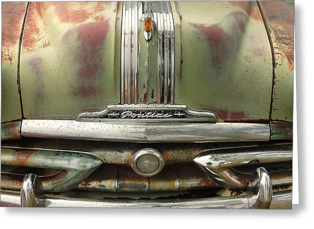Rusted Cars Greeting Cards - Vintage Pontiac Grille Greeting Card by Jim Hughes