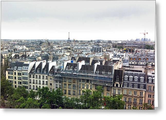 Lumiere Greeting Cards - Vue de Paris Greeting Card by Daniele Zambardi