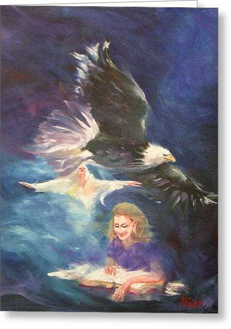 Joy Of The Lord Greeting Cards - Waiting on the Lord Greeting Card by Nancy Raborn