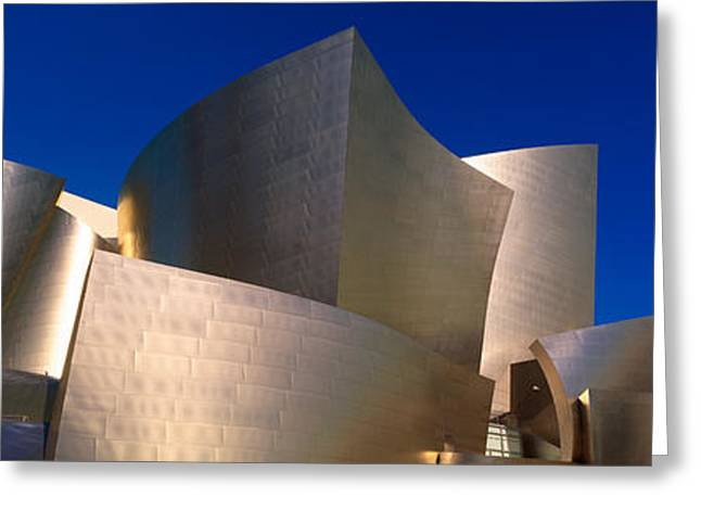 Geometric Image Greeting Cards - Walt Disney Concert Hall, Los Angeles Greeting Card by Panoramic Images