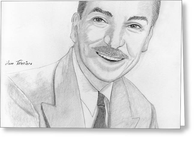Walt Disney Greeting Card by Jose Valeriano