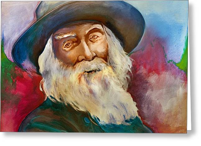 Leaves Of Grass Greeting Cards - Walt Whitman Greeting Card by Robert Lacy