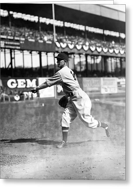 American League Greeting Cards - Walter C. Lefty Stewart Greeting Card by Retro Images Archive