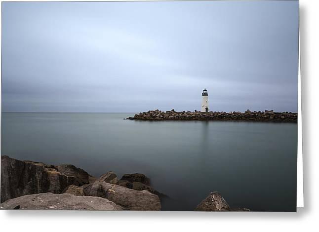 Santa Cruz Ca Greeting Cards - Walton Lighthouse Greeting Card by Lee Harland