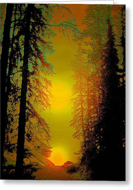 Reflection Greeting Cards - Warming Sunrise Greeting Card by Shirley Sirois