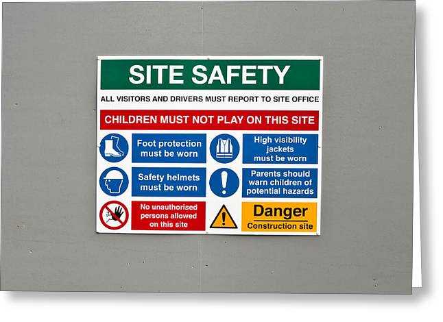 Legislation Greeting Cards - Warning Sign Greeting Card by Tom Gowanlock