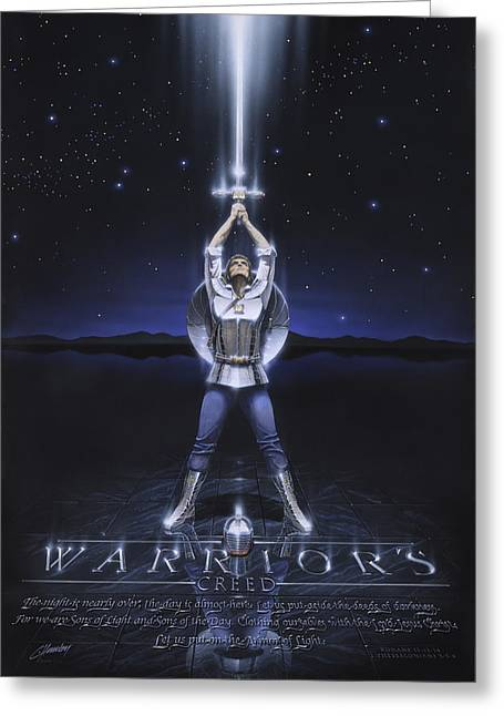 Warriors Creed Greeting Card by Cliff Hawley