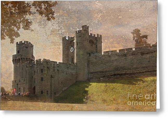British Royalty Greeting Cards - Warwick Castle Greeting Card by Linsey Williams