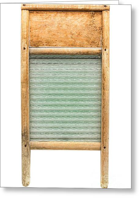 Old Washboards Photographs Greeting Cards - Washboard Greeting Card by Olivier Le Queinec