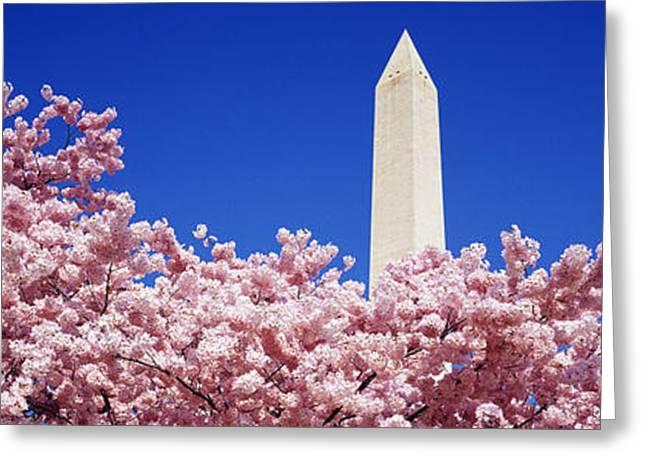 Strength Photographs Greeting Cards - Washington Monument Washington Dc Greeting Card by Panoramic Images