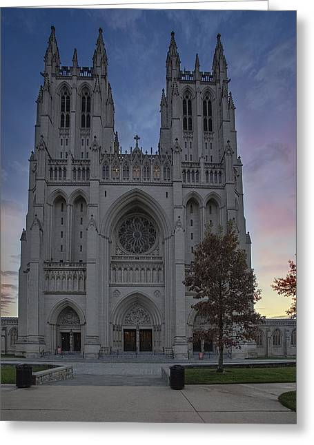 United States Of America Greeting Cards - Washington National Cathedral Greeting Card by Susan Candelario