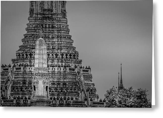 Asien Photographs Greeting Cards - Wat Arun - The Temple of Dawn - Bangkok Thailand Greeting Card by Colin Utz