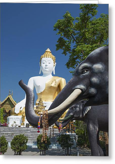 Kham Greeting Cards - Wat Doi Kham Temple Buddha Chiang Mai Greeting Card by Stuart Corlett