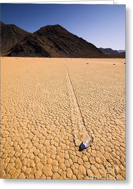 Dry Lake Greeting Cards - Water Bottle Greeting Card by GIPhotoStock