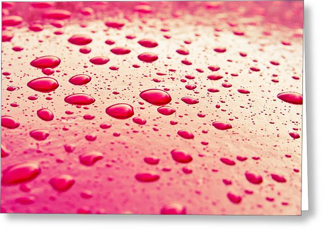 Reflex Greeting Cards - Water droplets Greeting Card by Tom Gowanlock
