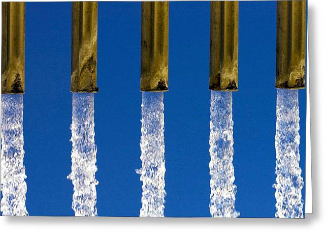 Water Flowing Greeting Cards - Water Greeting Card by Fabrizio Troiani