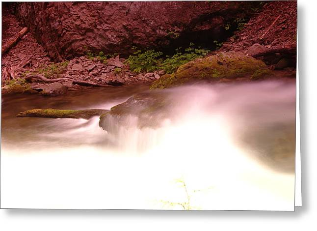 Hood River Greeting Cards - Water Over Rock  Greeting Card by Jeff  Swan