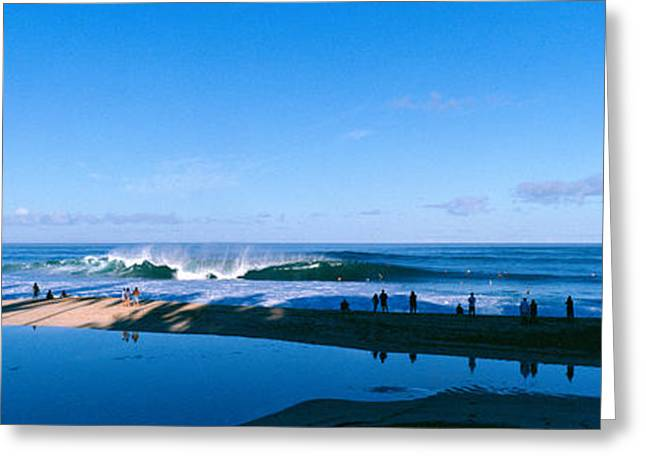 Strength Photographs Greeting Cards - Waves In The Sea Greeting Card by Panoramic Images