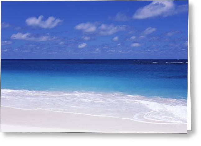 Beach Photography Greeting Cards - Waves On The Beach, Shoal Bay Beach Greeting Card by Panoramic Images