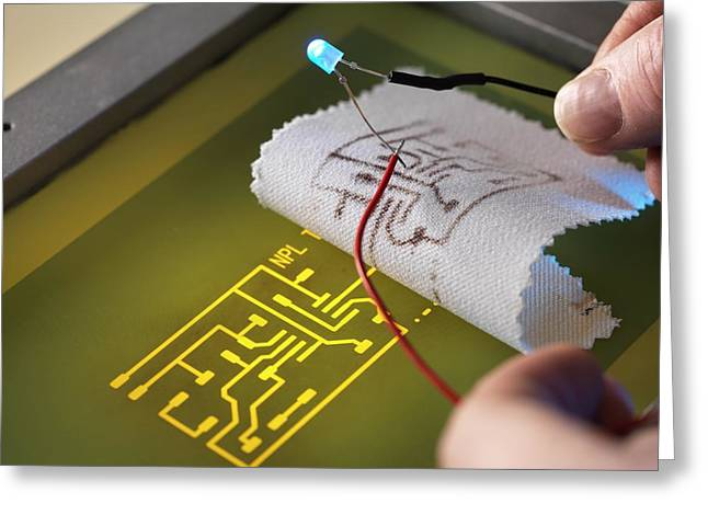Wearable Electronics Greeting Card by Andrew Brookes, National Physical Laboratory