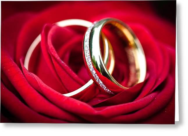 Ralf Greeting Cards - Wedding Rings Greeting Card by Ralf Kaiser