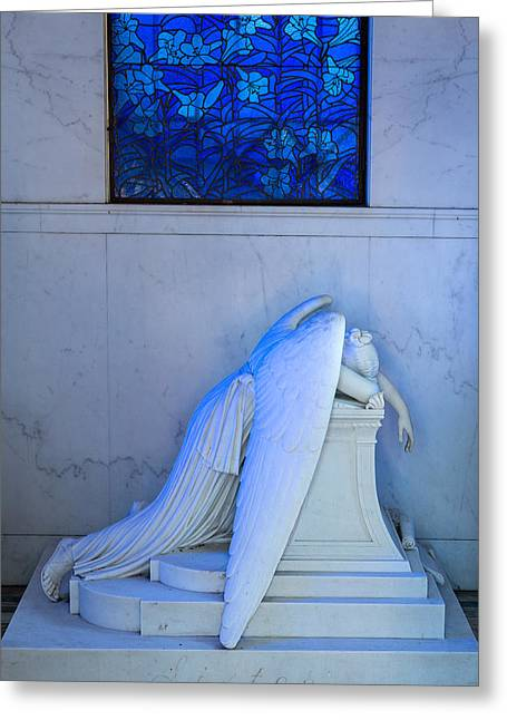 Metairie Cemetery Greeting Cards - Weeping Angel II Greeting Card by Chris Moore