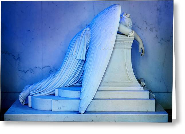 Metairie Cemetery Greeting Cards - Weeping Angel III Greeting Card by Chris Moore