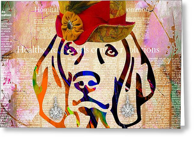 Pet Portraits Greeting Cards - Weimaraner Collection Greeting Card by Marvin Blaine