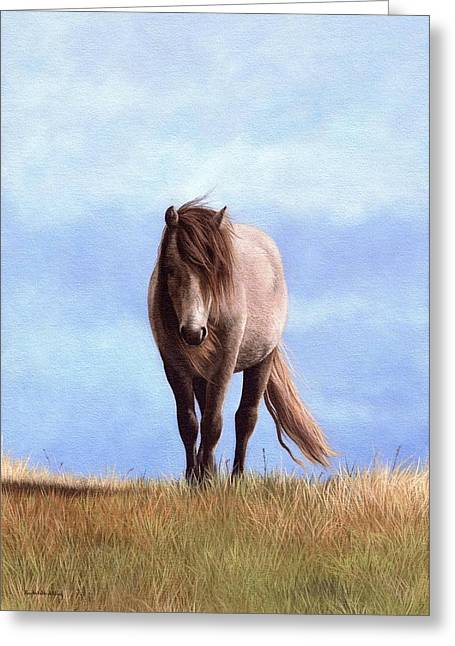Pony Greeting Cards - Welsh Pony Painting Greeting Card by Rachel Stribbling