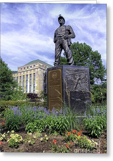 Seat Of Power Greeting Cards - West Virginia Coal Miner Greeting Card by Thomas R Fletcher