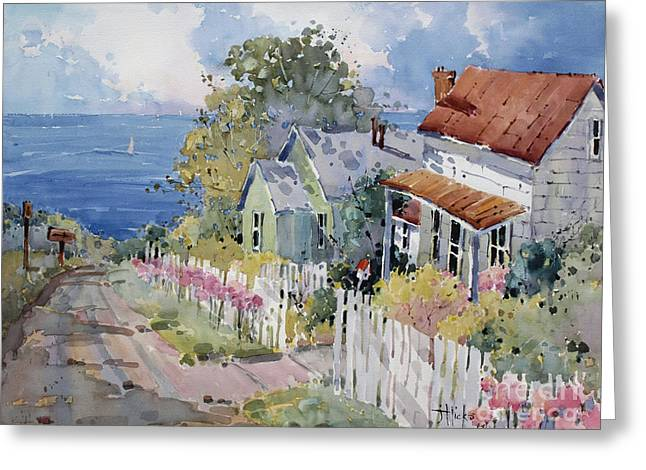 Westport by the Sea Greeting Card by Joyce Hicks