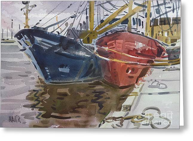 Commercial Greeting Cards - Wexford Fishing Boats Greeting Card by Donald Maier