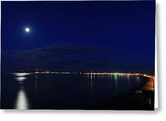 Weymouth At Night Greeting Card by Ollie Taylor