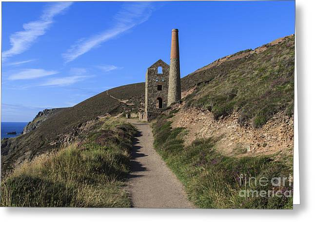 Surfers Porthtowan Greeting Cards - Wheal Coats Chapel Porth Cornwall Greeting Card by Brian Roscorla