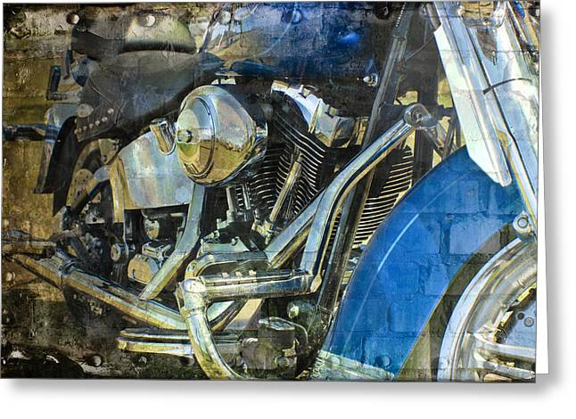 2 Wheel Rumbler Greeting Card by Melissa Smith