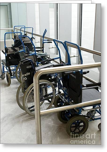 Disability Greeting Cards - Wheelchairs At Airport Greeting Card by Mark Williamson