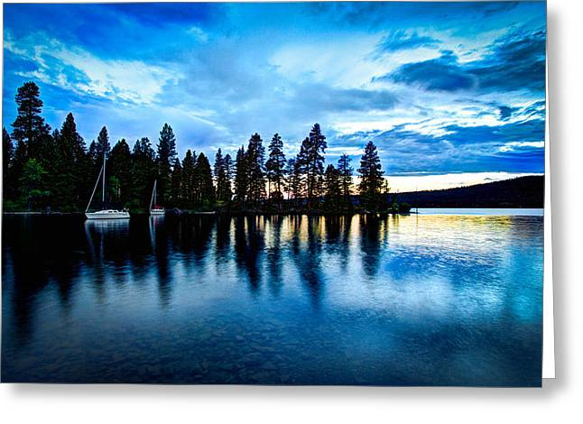 Blue Green Water Photographs Greeting Cards - Where are the Ducks? Greeting Card by Chad Dutson