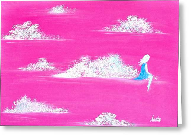 Canvas On Board Greeting Cards - Where are you? I feel alone again...  Greeting Card by Marianna Mills