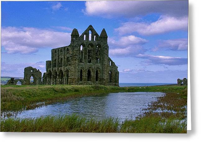 Whitby Abbey Greeting Card by Trevor Kersley