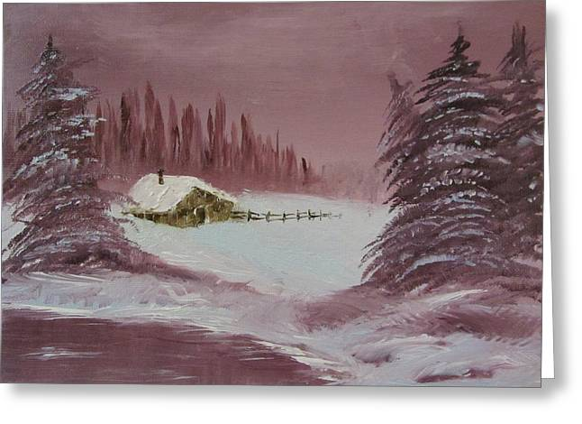 Bob Ross Paintings Greeting Cards - Whose Woods Greeting Card by Gavin Kutil