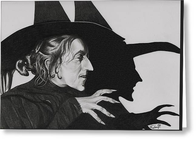 Toto Greeting Cards - Wicked Witch of the West Greeting Card by Fred Larucci