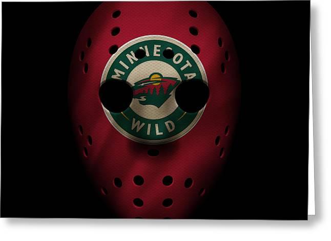 Skates Greeting Cards - Wild Jersey Mask Greeting Card by Joe Hamilton