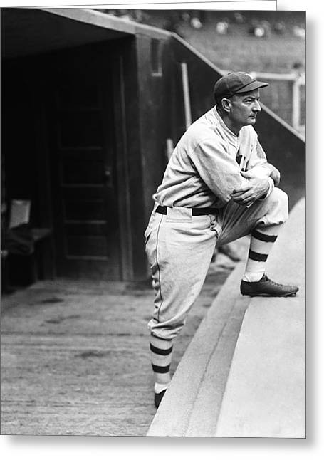 Dugout Greeting Cards - William B. Bill McKechnie Greeting Card by Retro Images Archive
