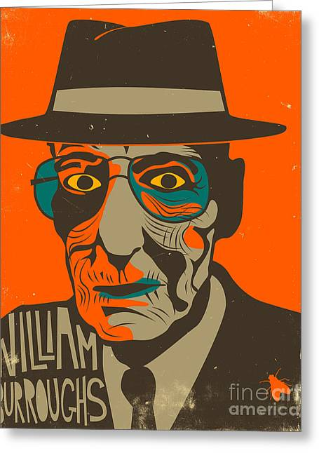 Williams Greeting Cards - William Burroughs Greeting Card by Jazzberry Blue
