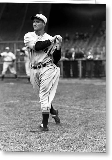 Baseball Bat Greeting Cards - William H. Billy Meyers Greeting Card by Retro Images Archive