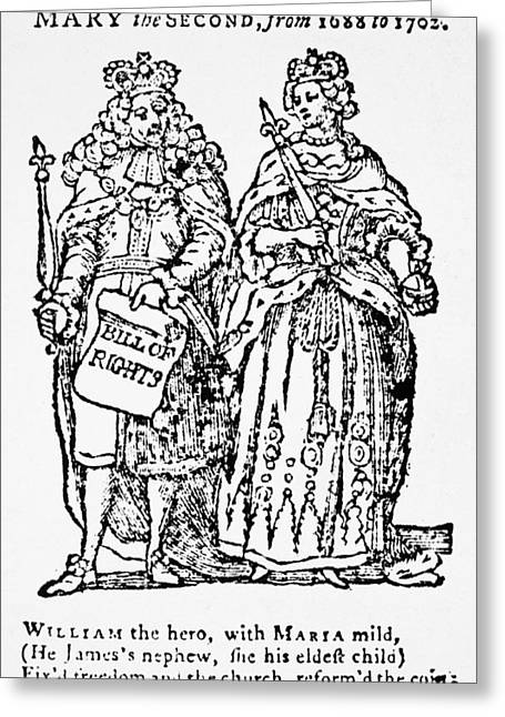 William IIi & Queen Mary Greeting Card by Granger