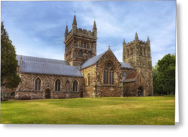 Historic England Greeting Cards - Wimborne Minster Greeting Card by Joana Kruse