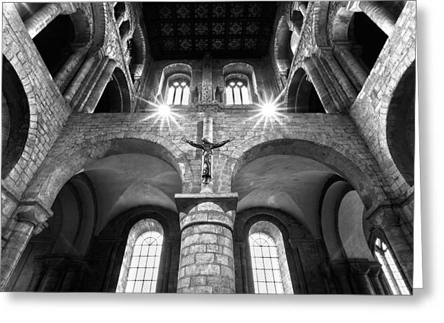 The Houses Greeting Cards - Winchester Cathedral Greeting Card by Steven Poulton