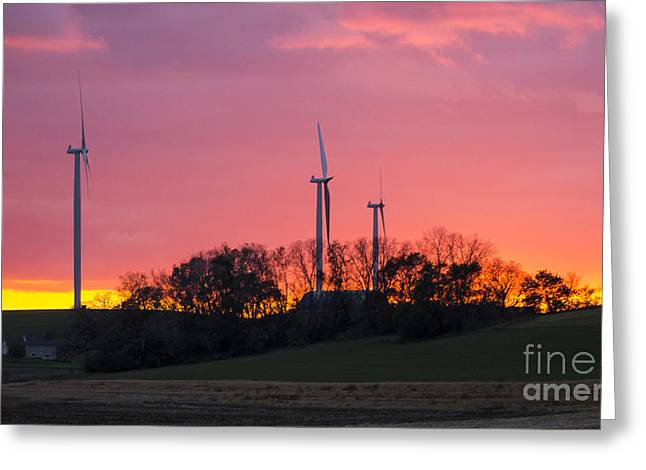 Generators Greeting Cards - Wind power Greeting Card by Steven Ralser